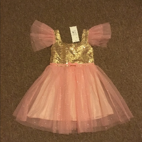 Gymboree Girls Long Sleeve Fairy Top /& Gold Sparkle Tulle Tutu Skirt Set 4T NWT